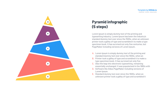 Free Pyramid template for PowerPoint