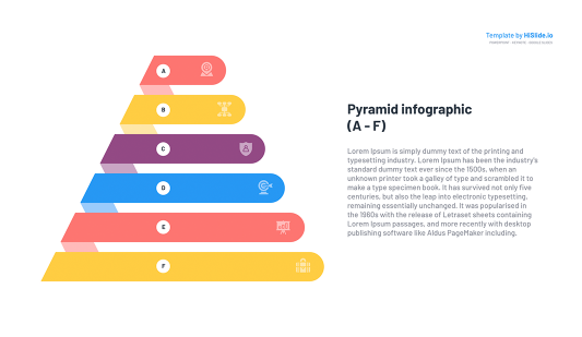 Pyramid Diagram template free Google Slides