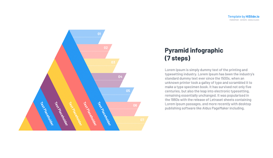 PowerPoint slide Pyramid template