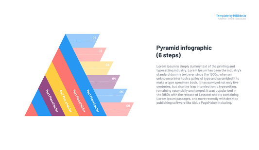 Pyramid clip art Infographic for Google slides