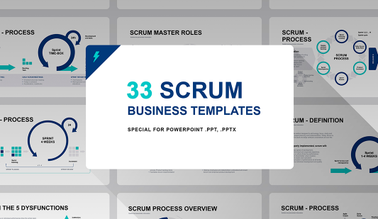 Scrum model PPT template