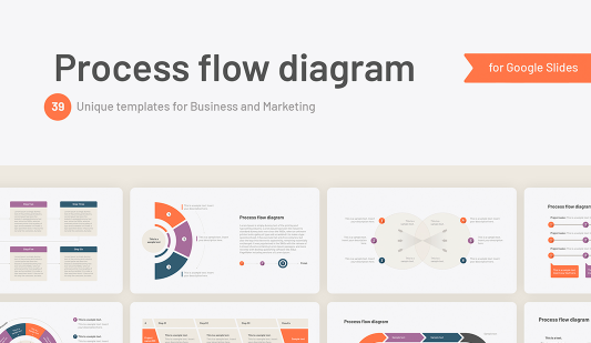 Processes flow diagram Google slides