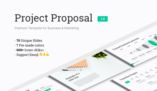 Project Proposal templates for Keynote