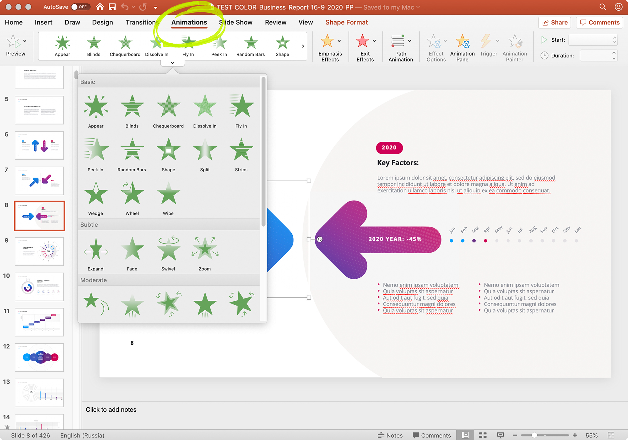 Adding PowerPoint Animations