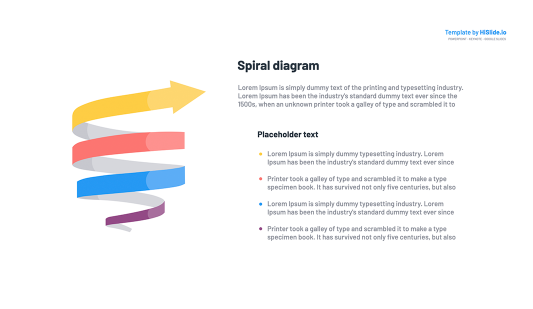 Infographic 3d Spiral template for Keynote