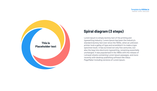 Spiral diagram Google Slides Template