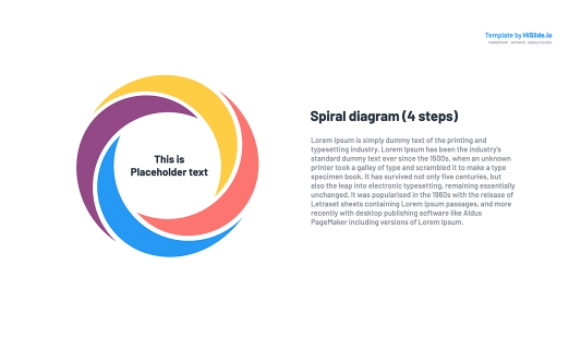 Spiral diagram for Google Slides