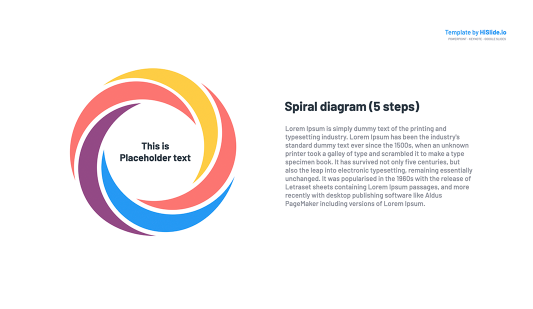 Spiral diagram Google Slides Templates