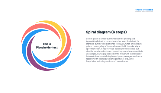 Free Spiral diagram for Google Slides
