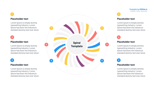 Google Slides Spiral template presentation