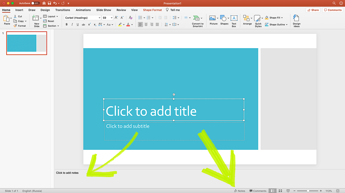 Notes in PowerPoint