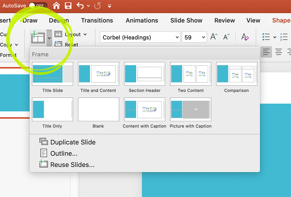 Add New Slide in PowerPoint Presentation