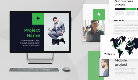 Formal presentation Powerpoint template