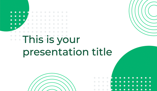 Green Circle Google slides template