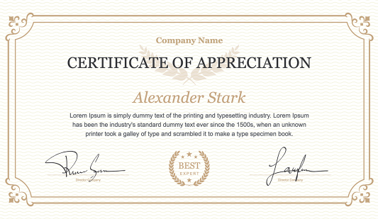 Classic Certificate PowerPoint Template