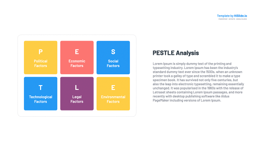 PESTLE analysis template free