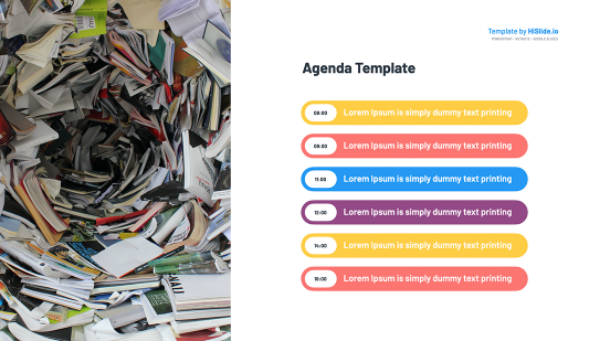 Agenda Template Keynote MAC Slide