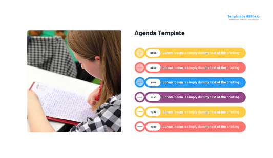 Meeting Agenda Keynote template slide