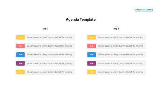 Agenda Google Slides Template