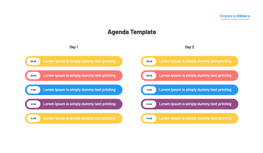 Google Slides Agenda Template
