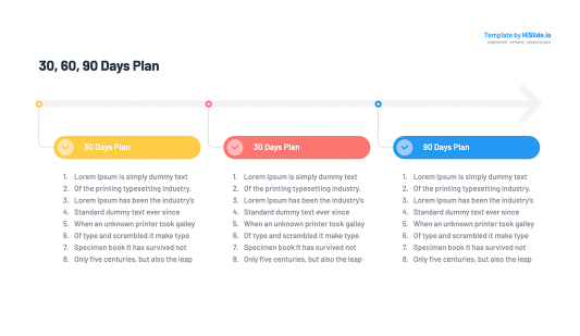 30 60 90 days plan Keynote Template