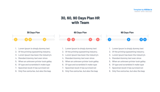 30 60 90 Day Planning Timeline Keynote Template