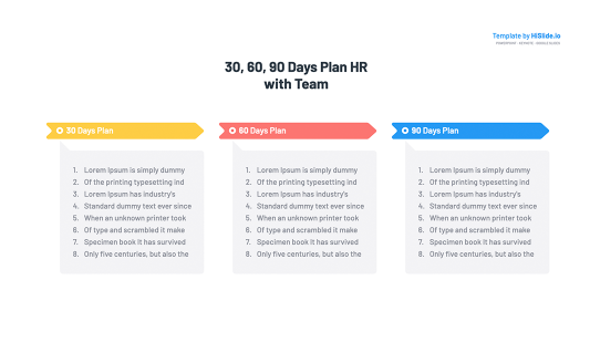30 60 90 Day Plan Timeline Keynote Template