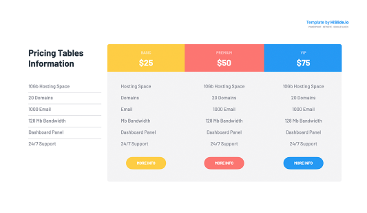 Pricing Tables Powerpoint template