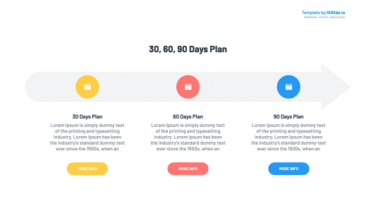 30 60 90 Plan Arrow Keynote Template