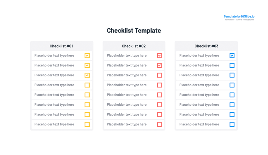 Checklist Keynote Template Slide