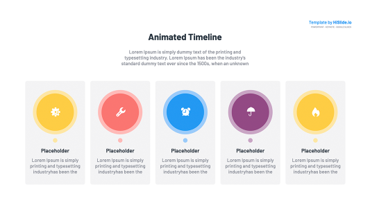 Animated Timeline Keynote Template
