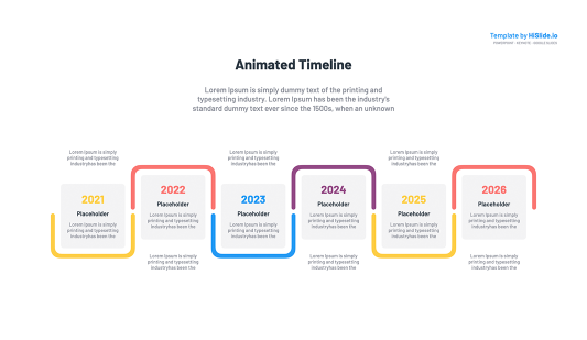 Free Animated Timeline Keynote Template