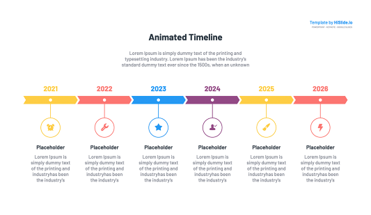 Keynote timeline animation template