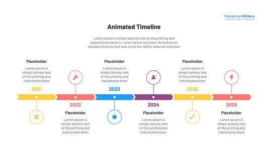 Free Keynote timeline animation slide