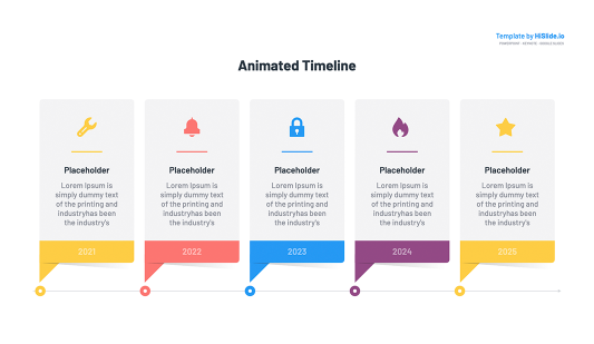 Keynote timeline animated chart