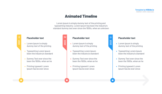 Apple Keynote animated timeline