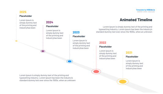 Apple Keynote animated timeline slide