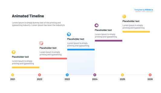 Keynote Project animated timeline