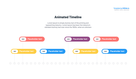 Keynote Project animated timeline free
