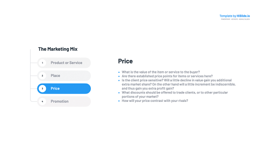 Marketing Mix: Price