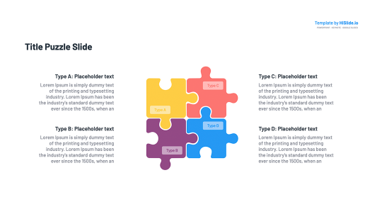 4 Pieces Puzzle Infographic Google Slides