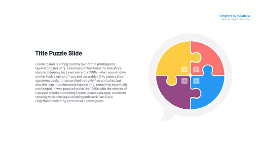Cloud 4 Pieces Puzzle Infographic Google Slides