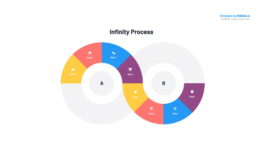 Infinity segment infographic PowerPoint Template