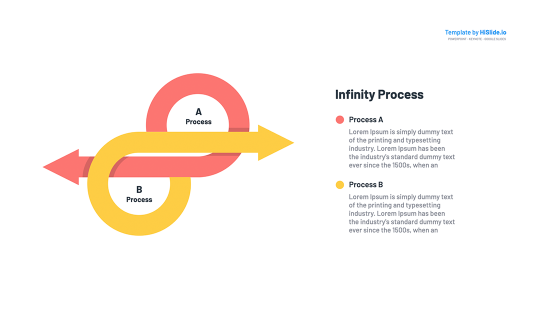 Infinity symbol with text Google Slides Template