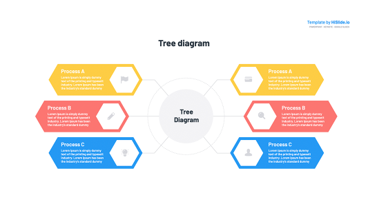 Tree diagram template for PowerPoint presentation