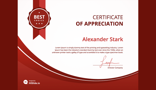 Certificate free template PowerPoint