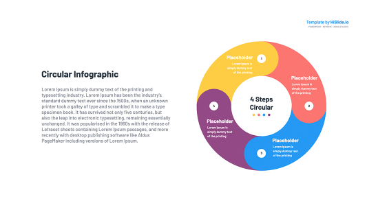 Circular flow diagram Template for Keynote
