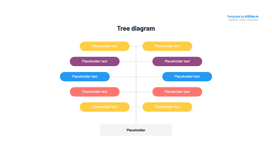 Tree diagram template for Google Slides
