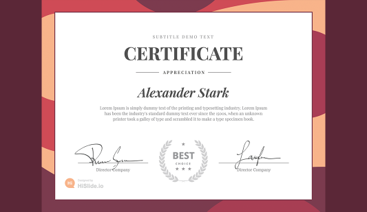 Free Certificate template PowerPoint