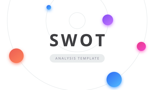 SWOT analysis template PowerPoint: Light and Dark